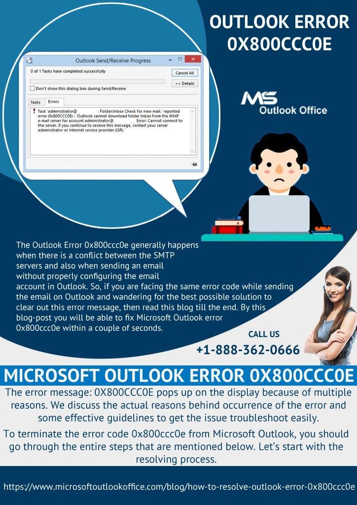 How to Get Rid Of Outlook Error 0x800ccc0e?